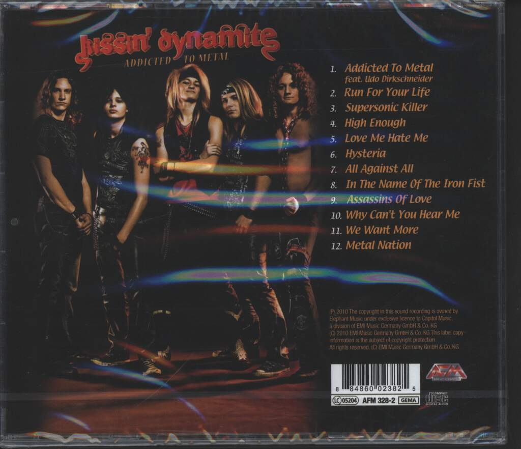 Kissin' Dynamite: Addicted To Metal, CD