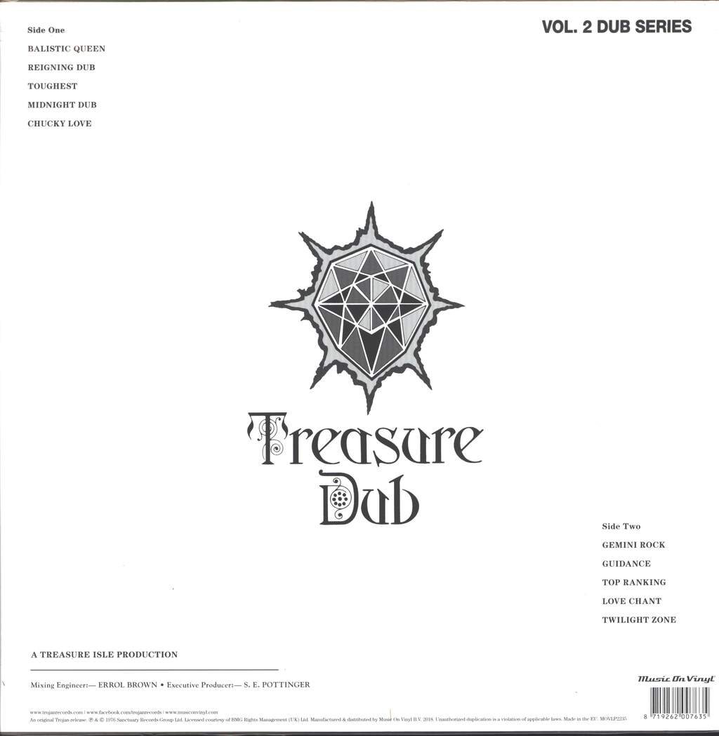 "Arthur ""Duke"" Reid: Treasure Dub (Vol. 2 Dub Series), LP (Vinyl)"
