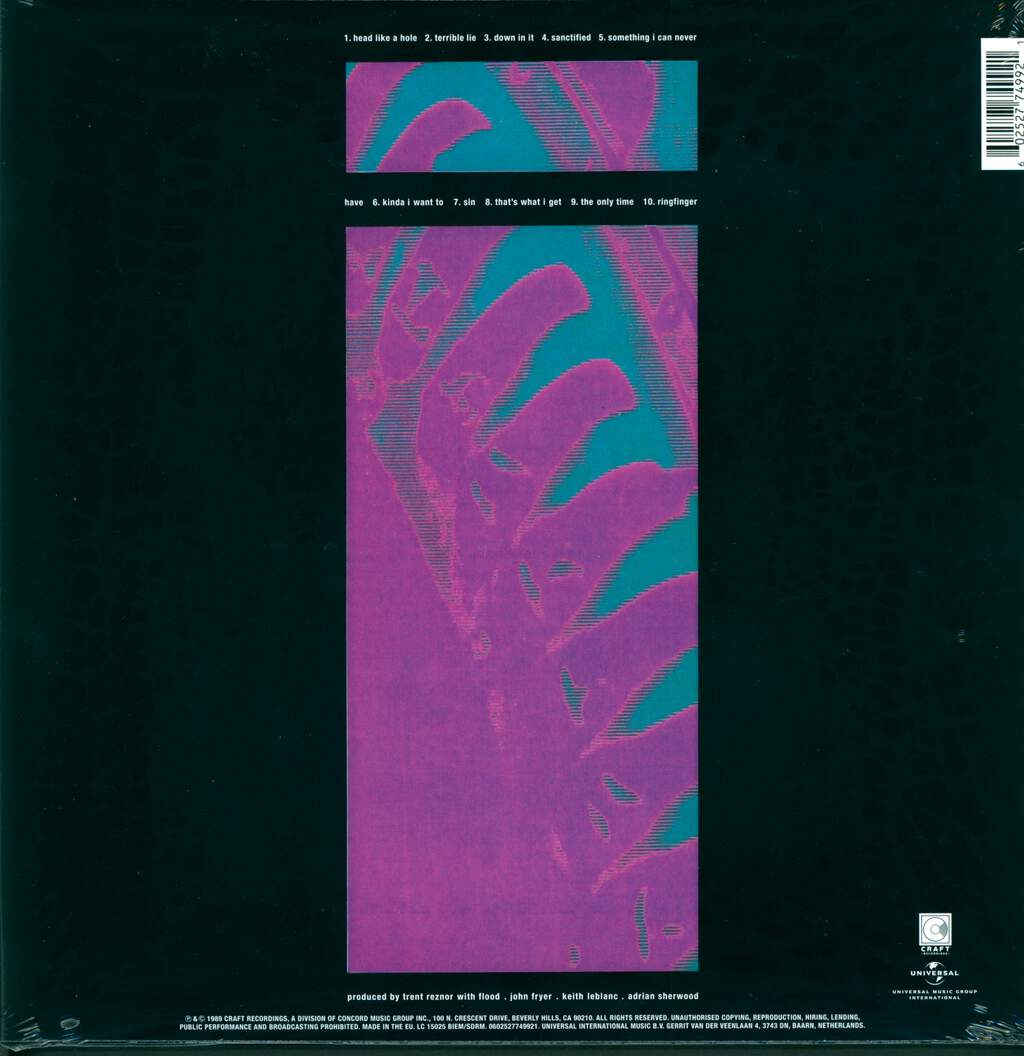 Nine Inch Nails: Pretty Hate Machine, LP (Vinyl)