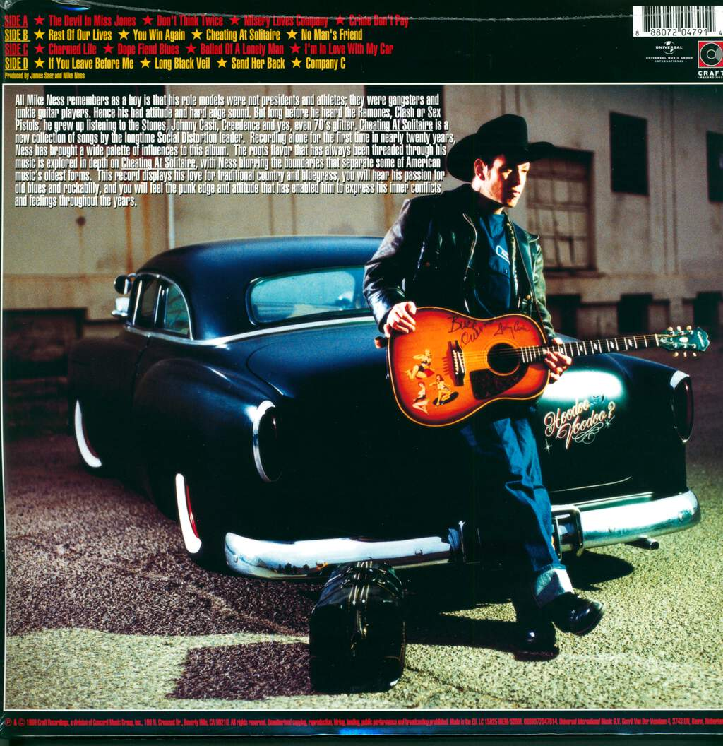 Mike Ness: Cheating At Solitaire, 2×LP (Vinyl)