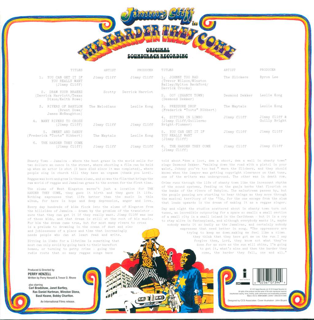 Various: The Harder They Come (Original Soundtrack Recording), LP (Vinyl)
