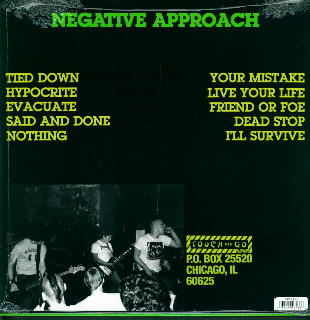 Negative Approach: Tied Down, LP (Vinyl)