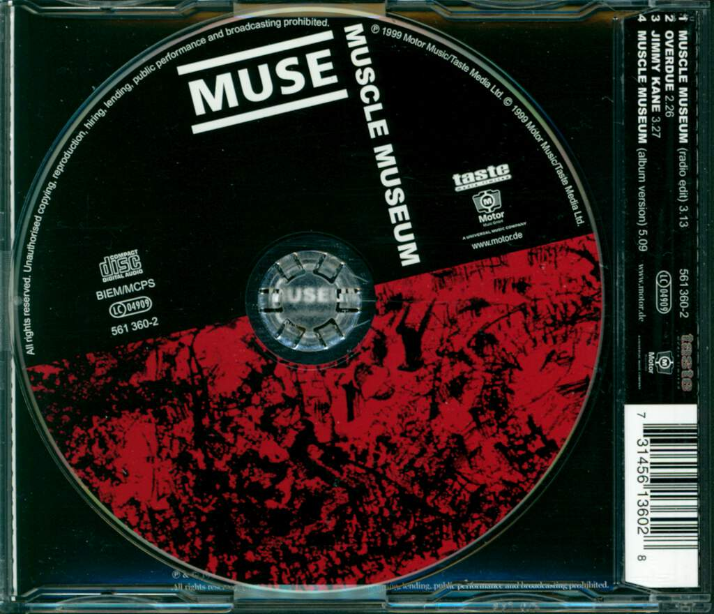 Muse: Muscle Museum, Mini CD
