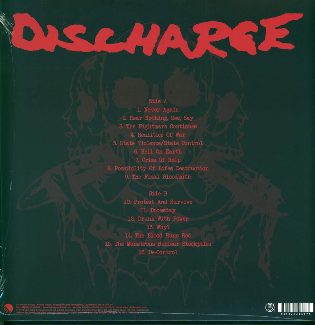 Discharge: The Nightmare Continues... Live, LP (Vinyl)