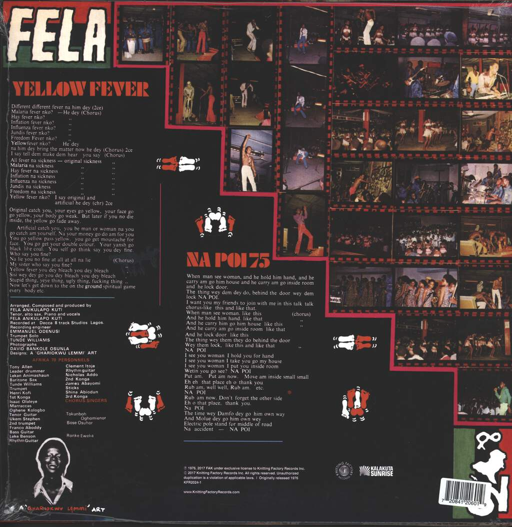 Fela Kuti: Yellow Fever, LP (Vinyl)
