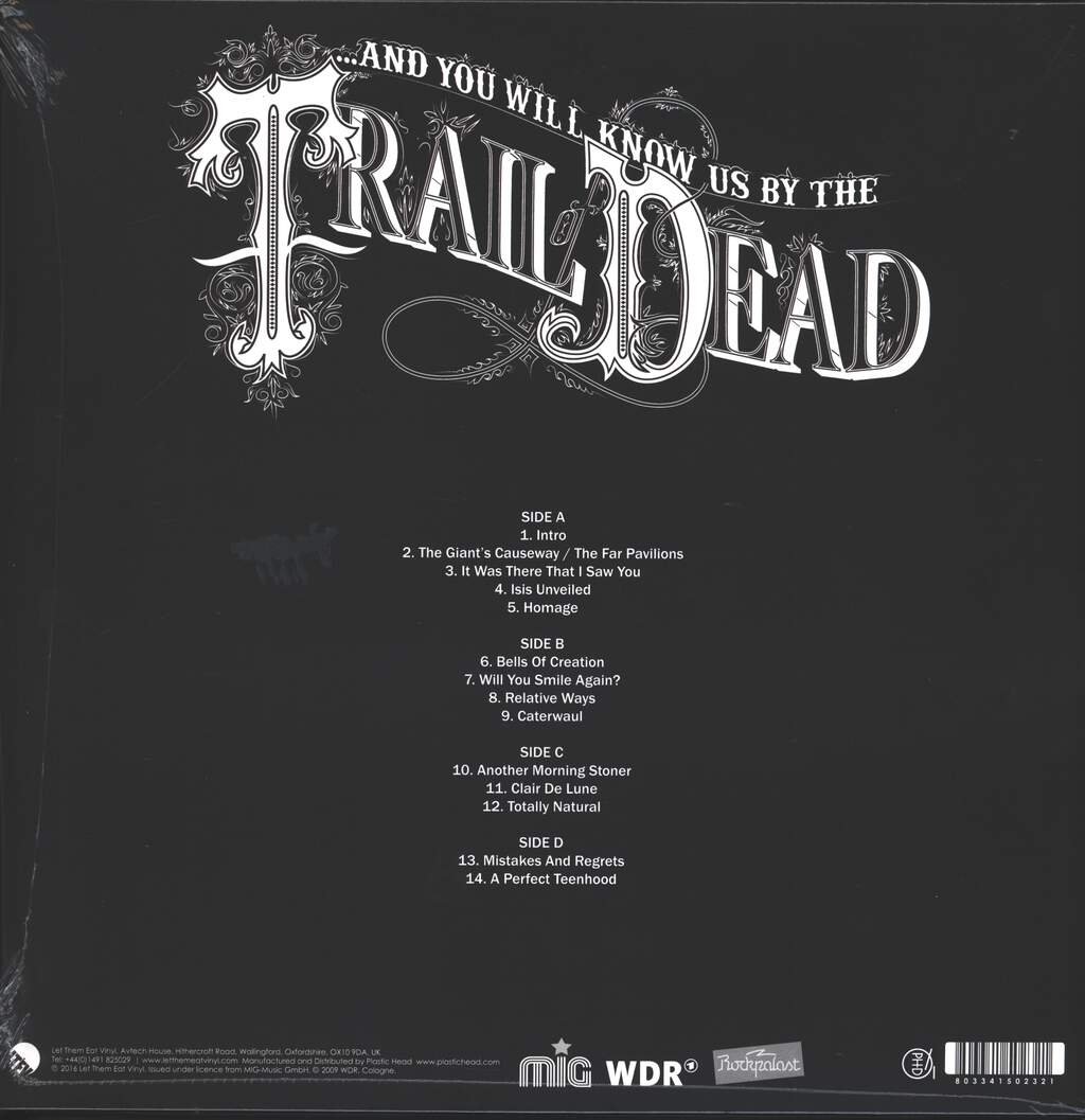 And You Will Know US By the Trail Of Dead: Live At Rockpalast 2009, 2×LP (Vinyl)