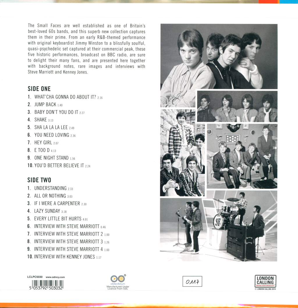 Small Faces: Live At The BBC '65- '68, LP (Vinyl)