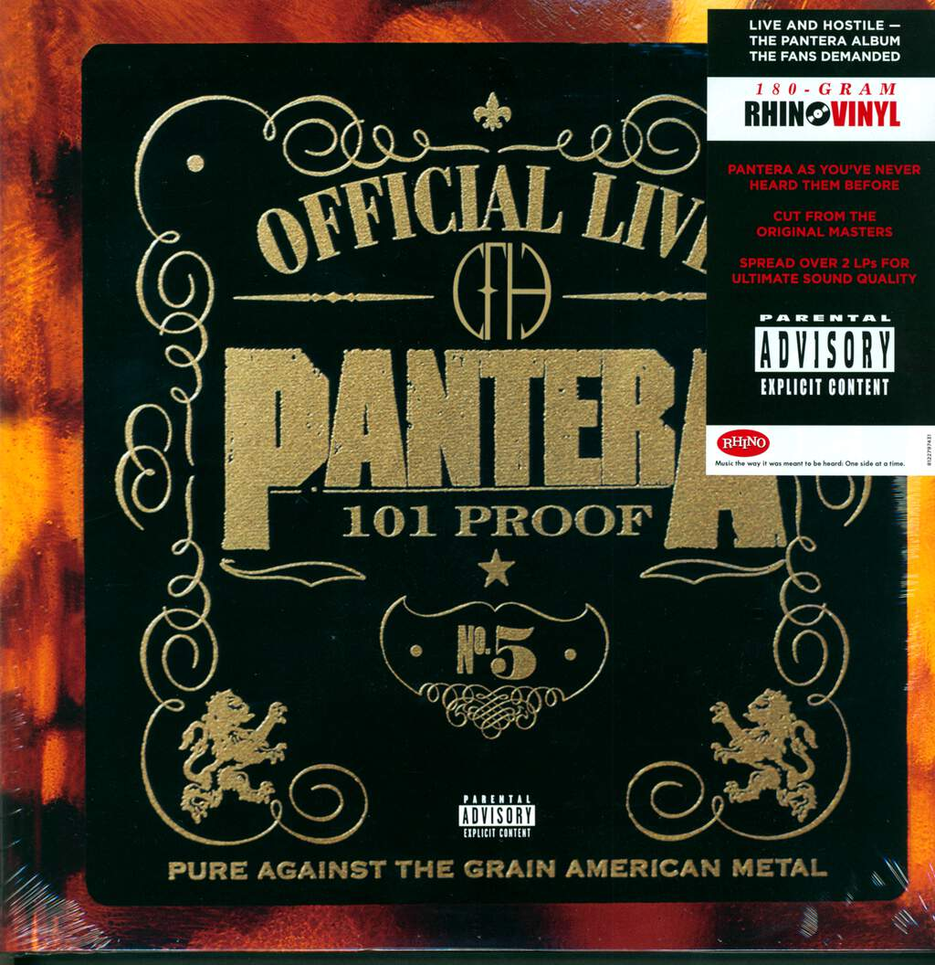 Pantera: Official Live: 101 Proof, 2×LP (Vinyl)