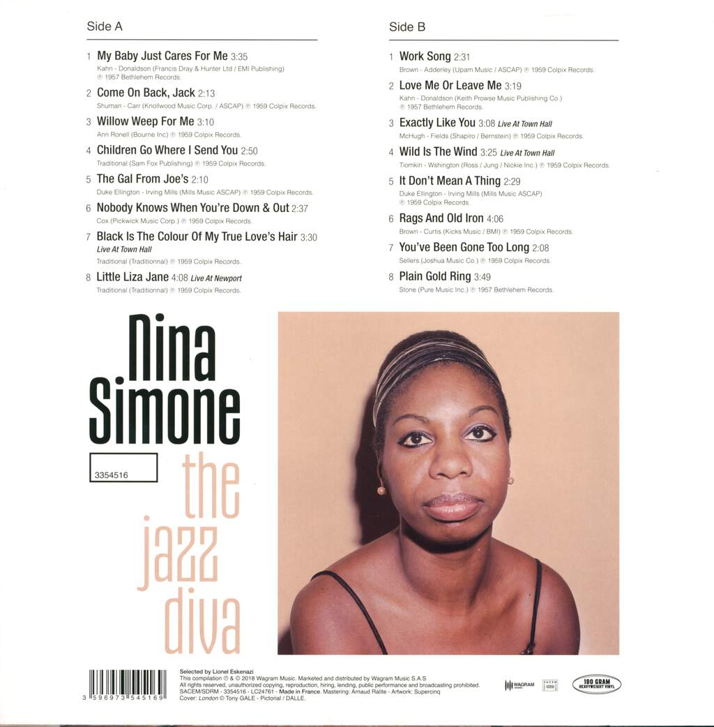 Nina Simone: The Jazz Diva, LP (Vinyl)