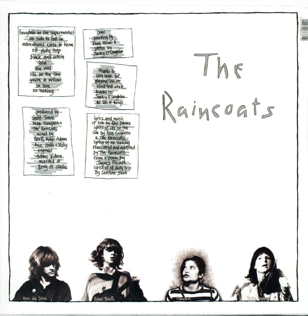 The Raincoats: The Raincoats, LP (Vinyl)