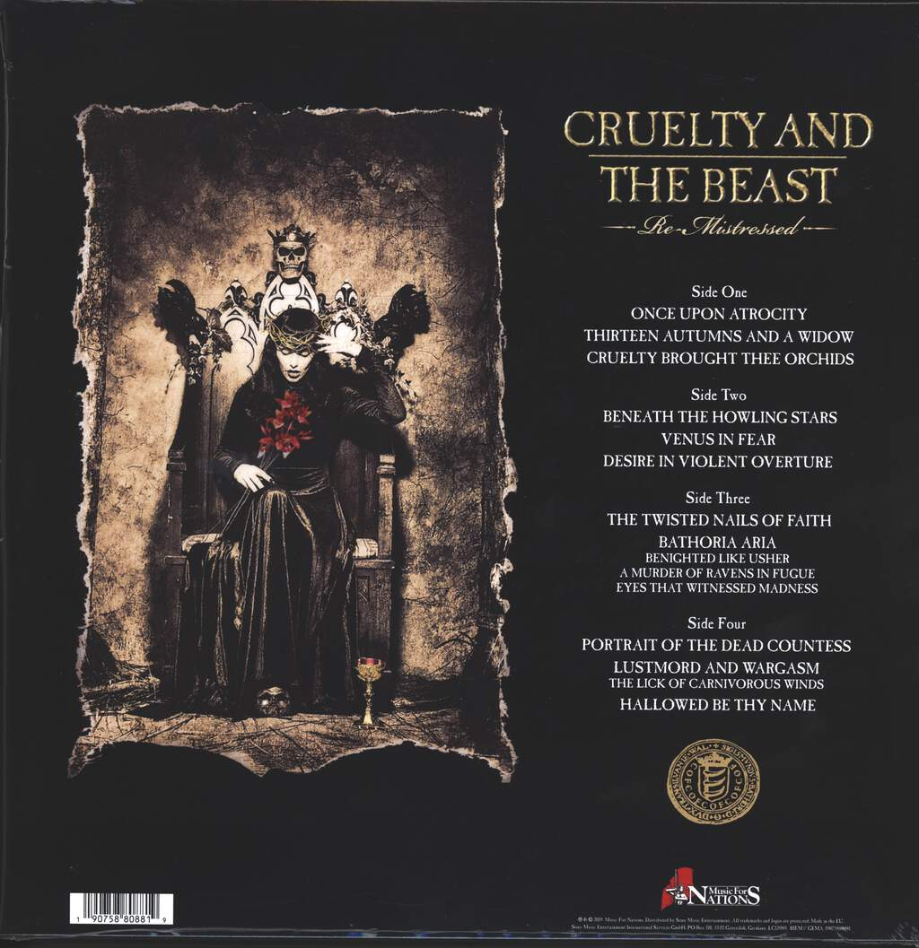 Cradle Of Filth: Cruelty And The Beast (Re-Mistressed), 2×LP (Vinyl)