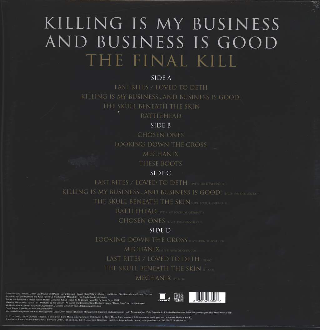 Megadeth: Killing Is My Business And Business Is Good (The Final Kill), 2×LP (Vinyl)
