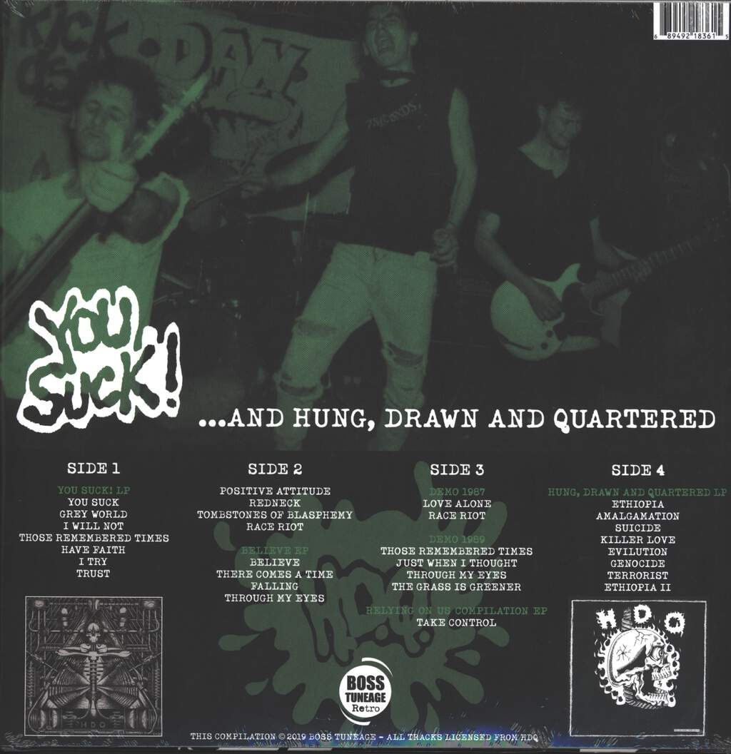 H.D.Q.: You Suck! ... And Hung, Drawn And Quartered, 2×LP (Vinyl)