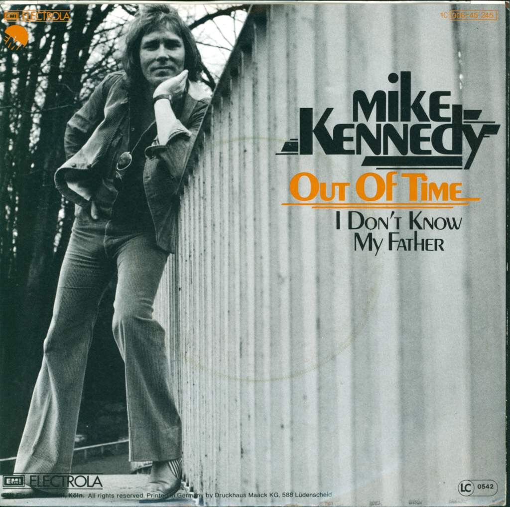 "Mike Kennedy: Out Of Time / I Don't Know My Father, 7"" Single (Vinyl)"