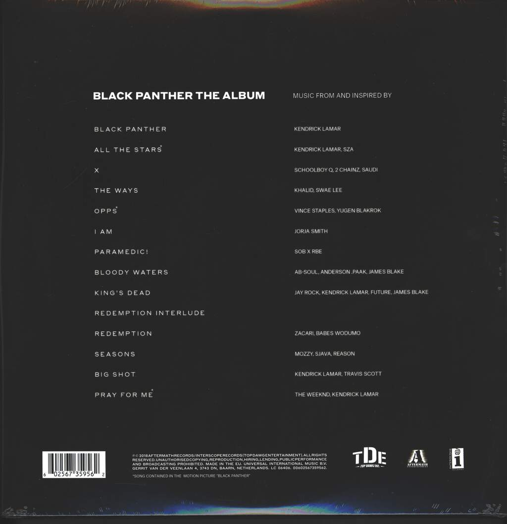 Various: Black Panther The Album (Music From And Inspired By), 2×LP (Vinyl)