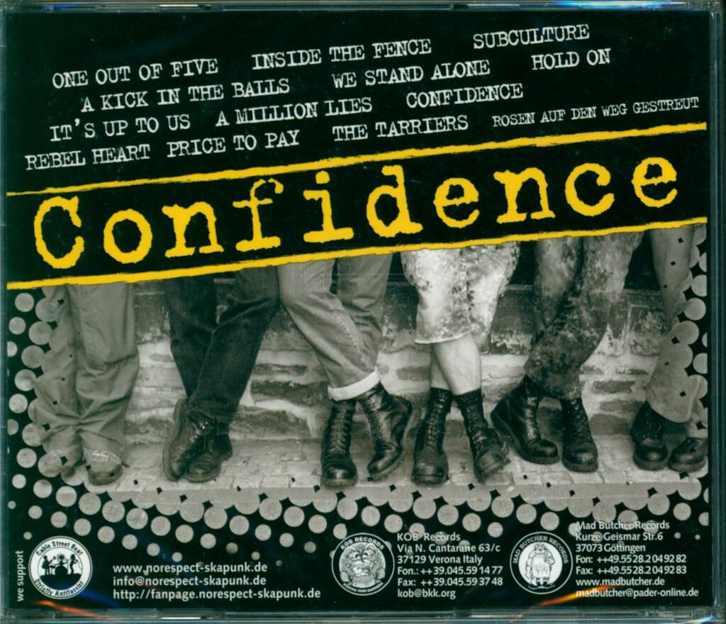 No Respect: Confidence, CD