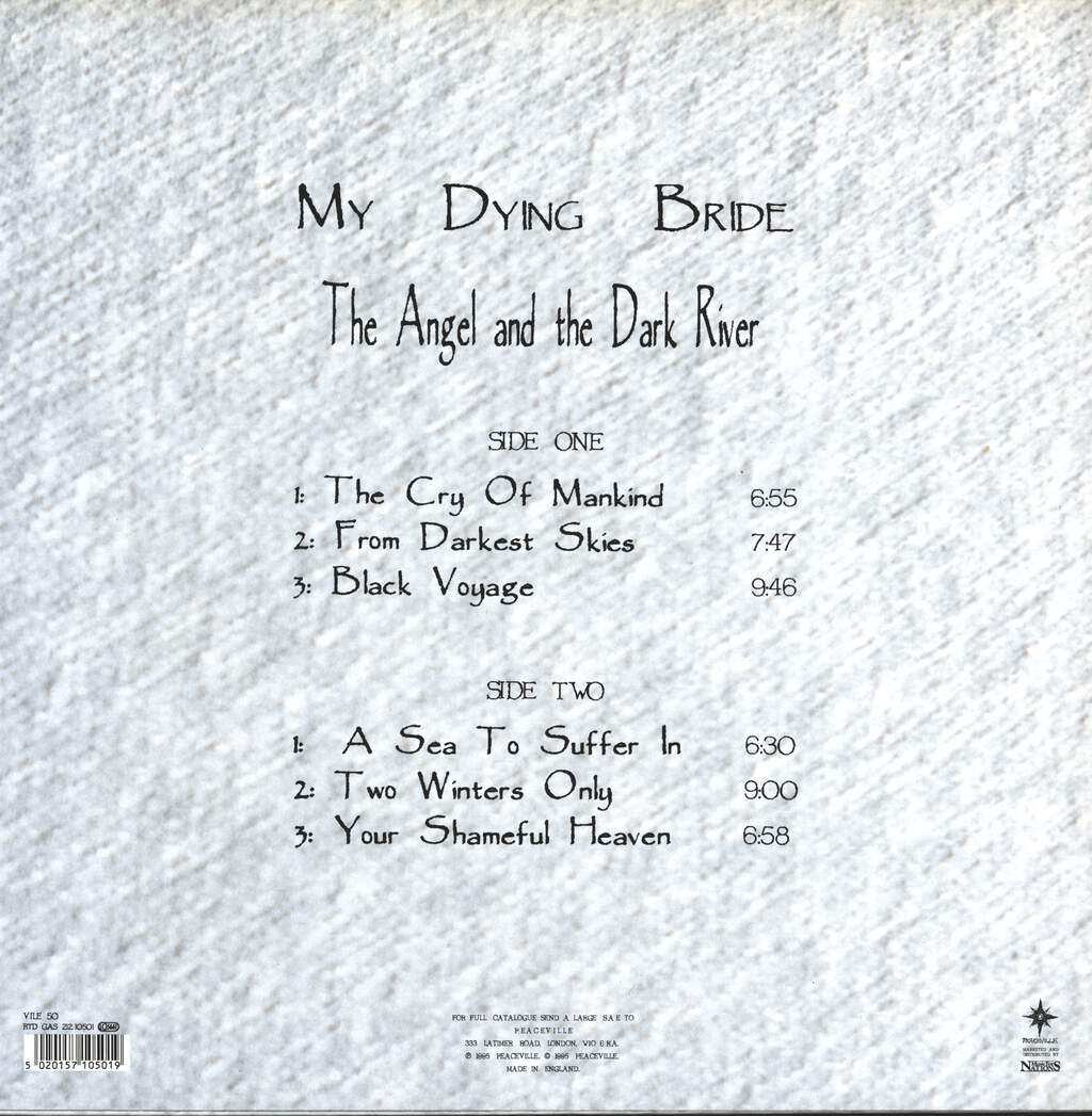My Dying Bride: The Angel And The Dark River, LP (Vinyl)
