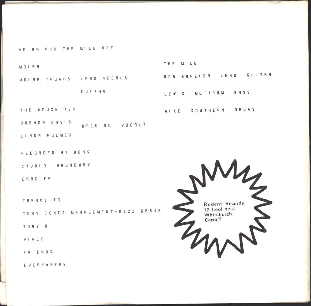 """Moira And The Mice: Gimme Pleasure / Sight And Sound, 7"""" Single (Vinyl)"""
