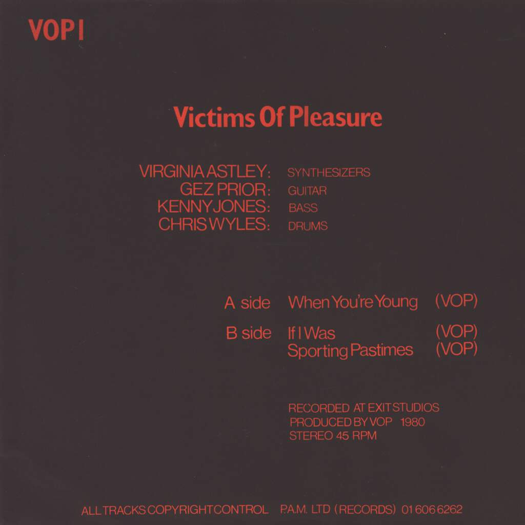 """Victims of Pleasure: When You're Young, 7"""" Single (Vinyl)"""