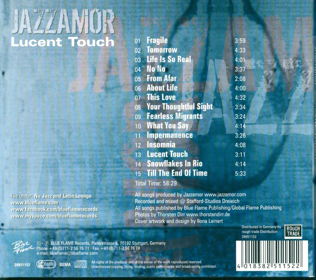 Jazzamor: Lucent Touch, CD