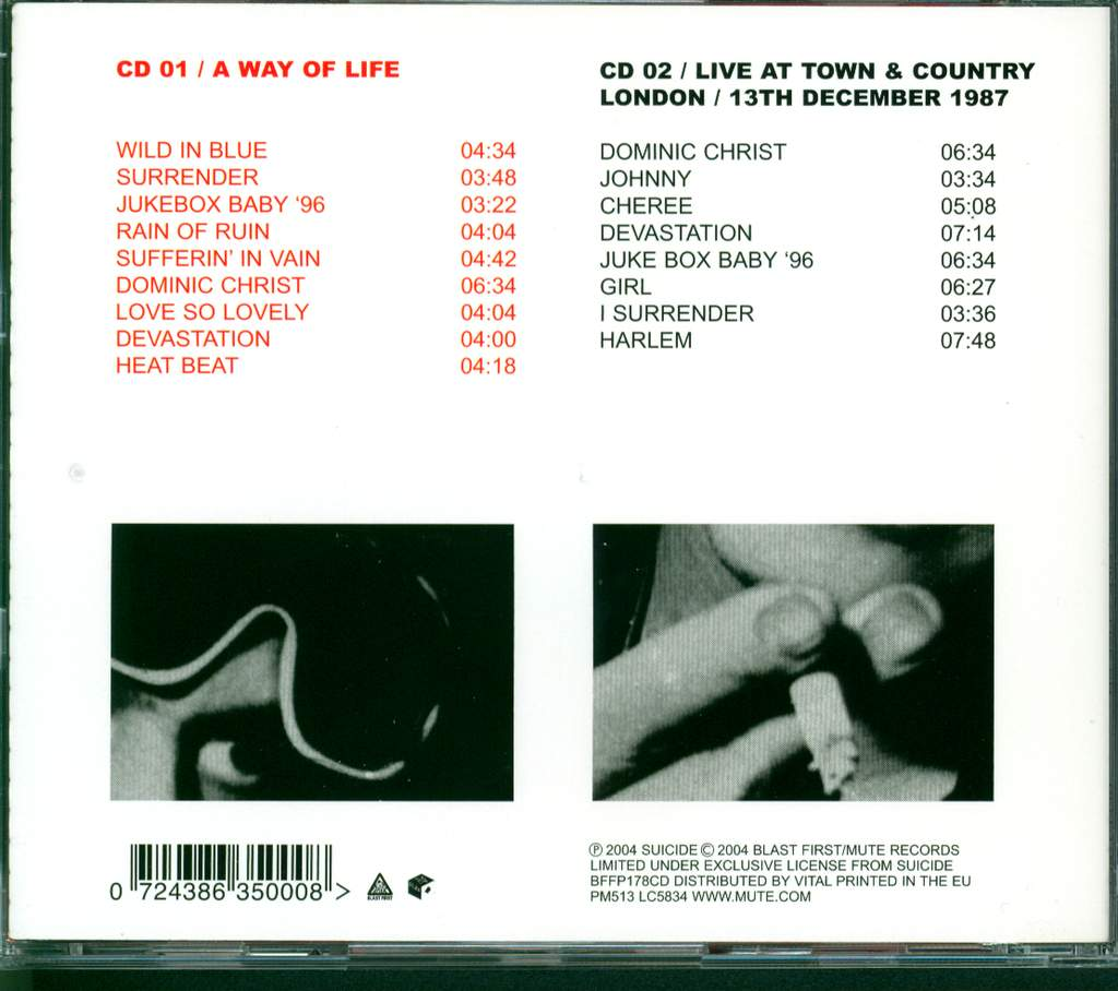 Suicide: A Way Of Life, 2×CD