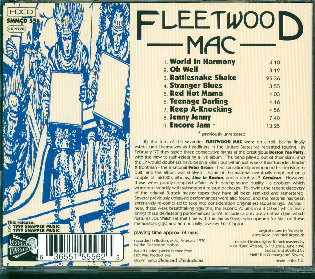 Fleetwood Mac: Live In Boston - Volume Two - Remastered, CD