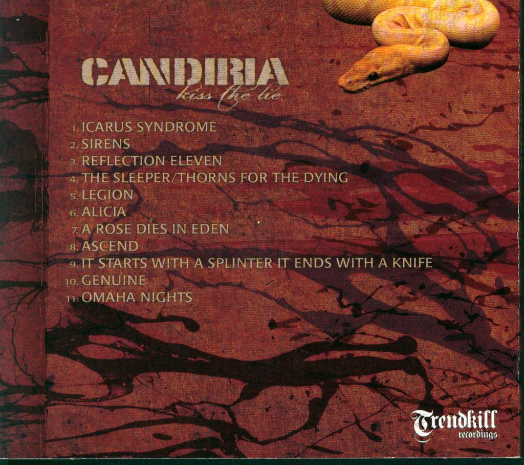 Candiria: Kiss The Lie, CD