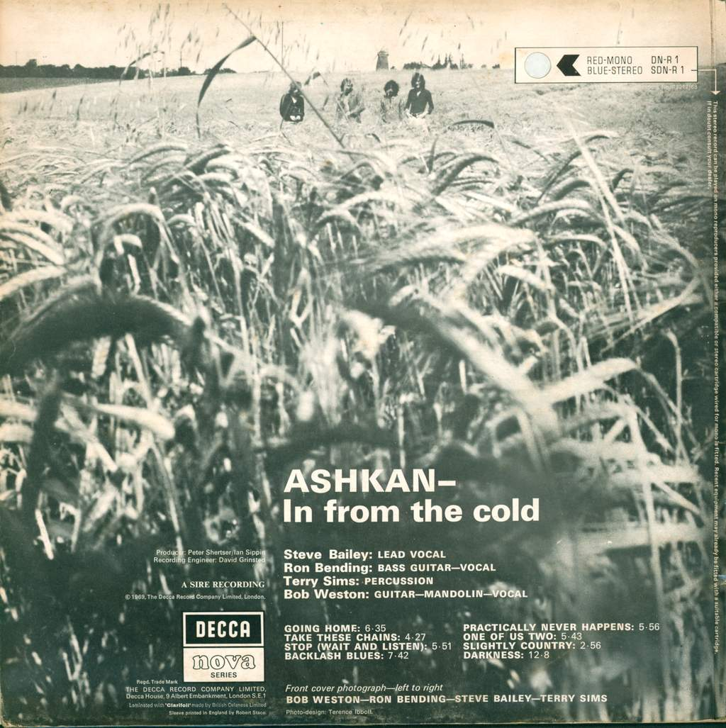 Ashkan: In From The Cold, LP (Vinyl)