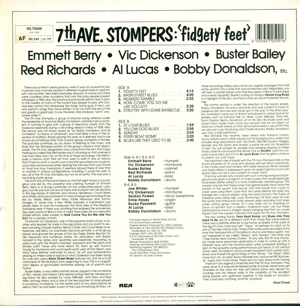 7th Ave. Stompers: Fidgety Feet, LP (Vinyl)