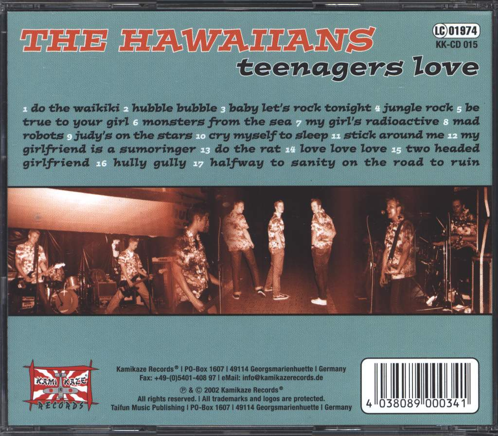 The Hawaiians: Teenagers Love, CD
