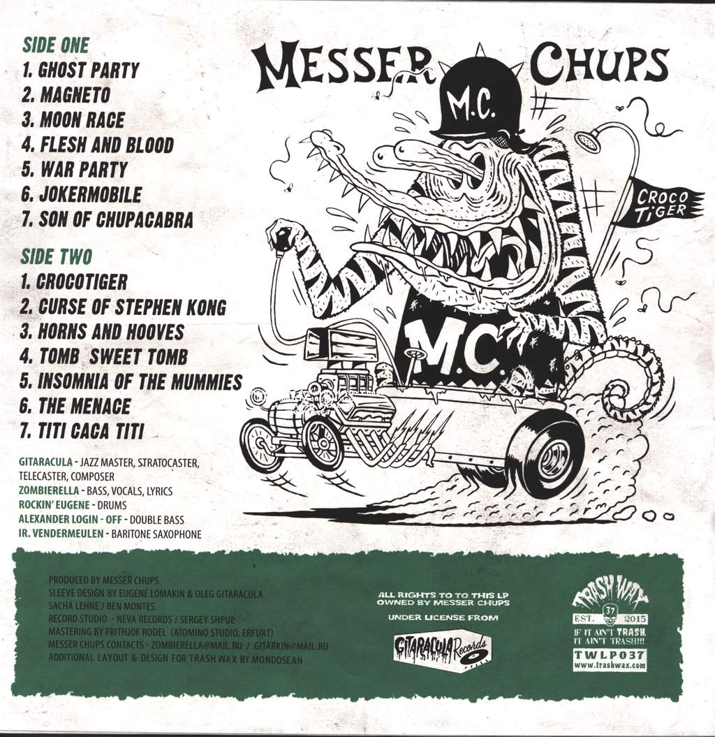 Messer Chups: The Incredible Crocotiger, LP (Vinyl)