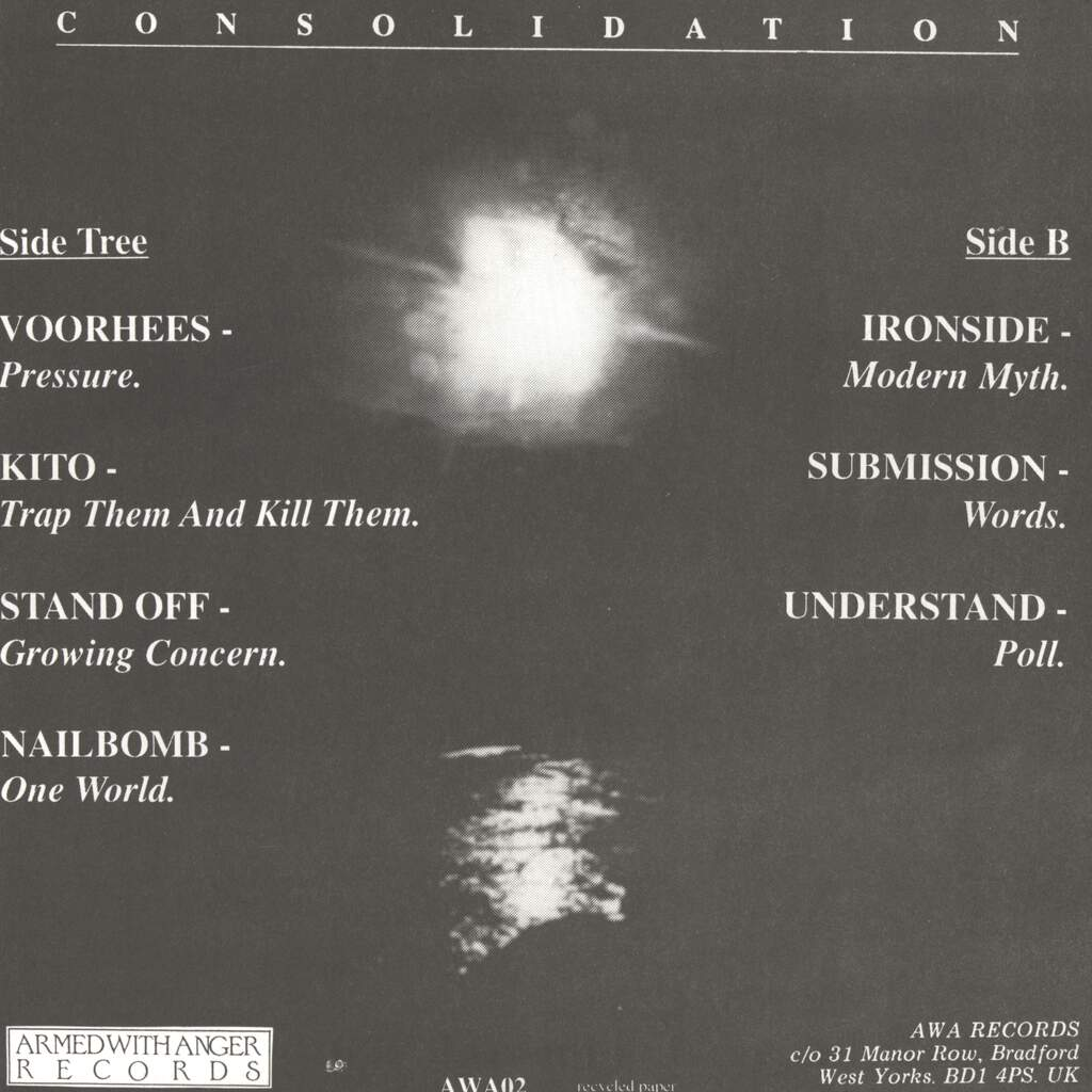"Various: Consolidation (A UK Hardcore Compilation EP.), 7"" Single (Vinyl)"