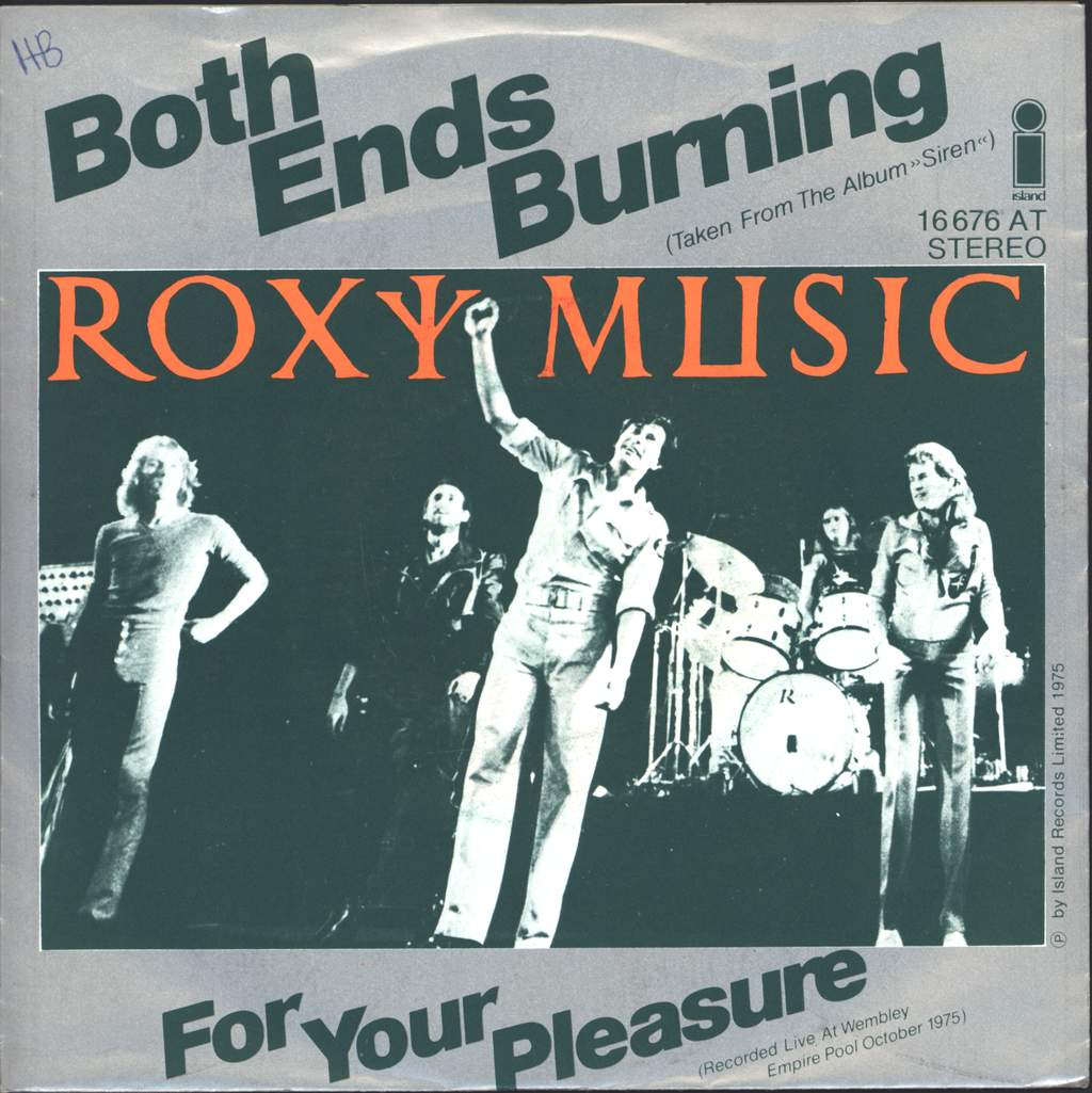 "Roxy Music: Both Ends Burning, 7"" Single (Vinyl)"