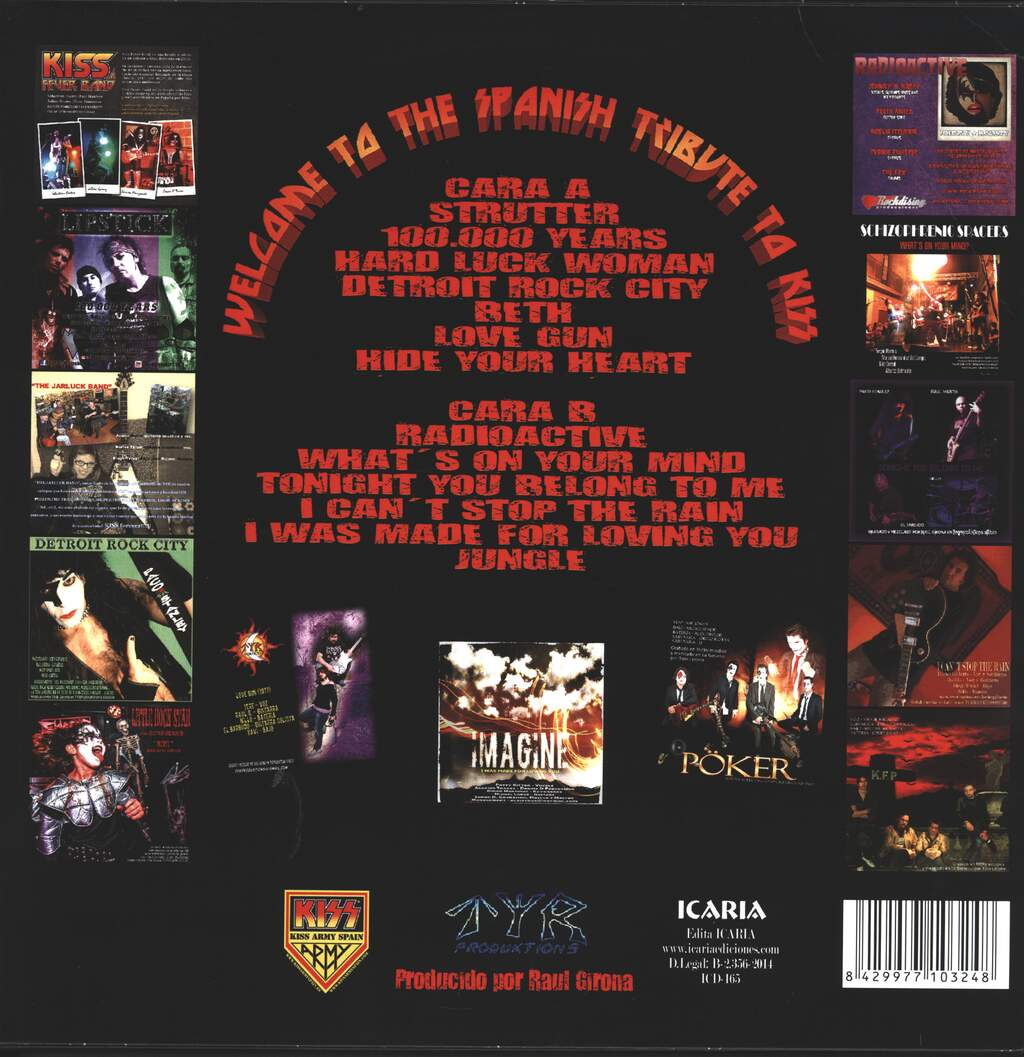 Various: Welcome To The Spanish Tribute To Kiss, LP (Vinyl)