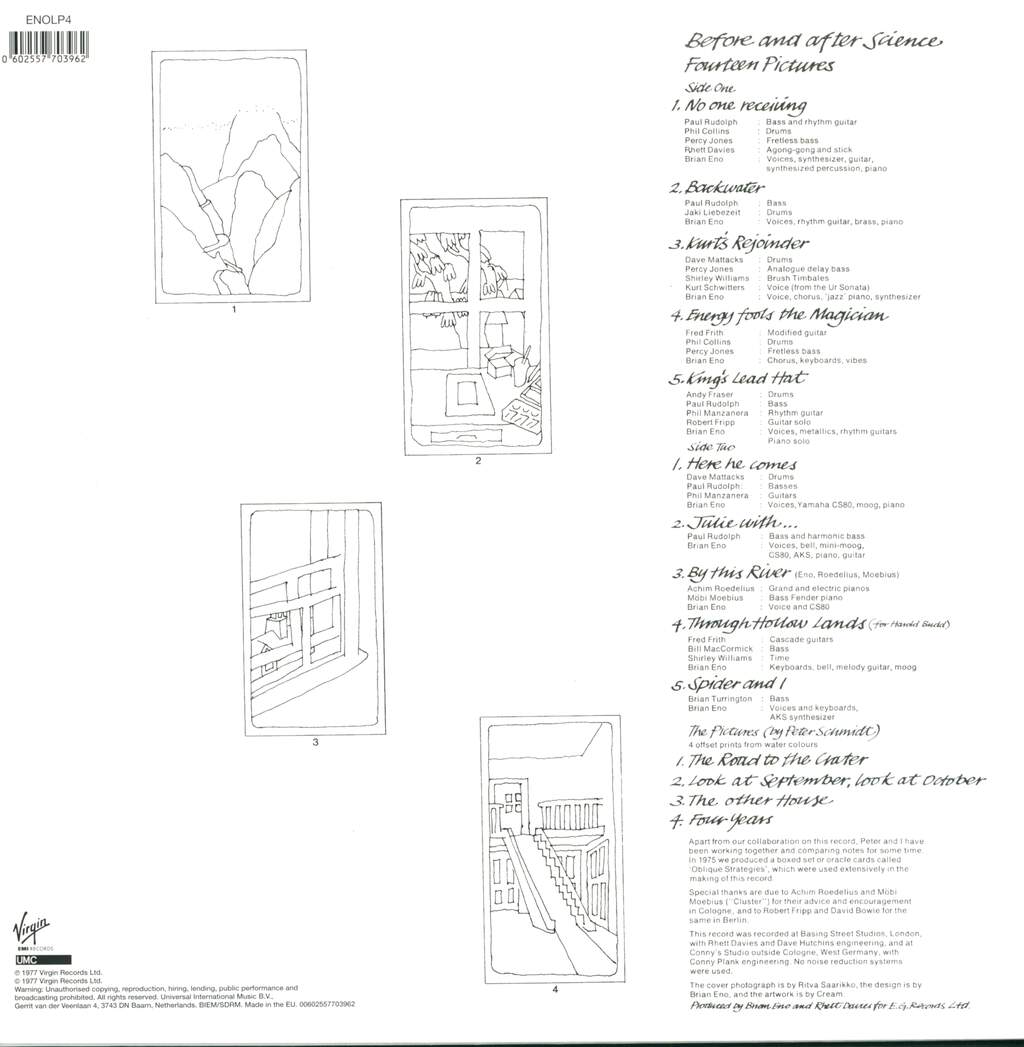 Brian Eno: Before And After Science, LP (Vinyl)