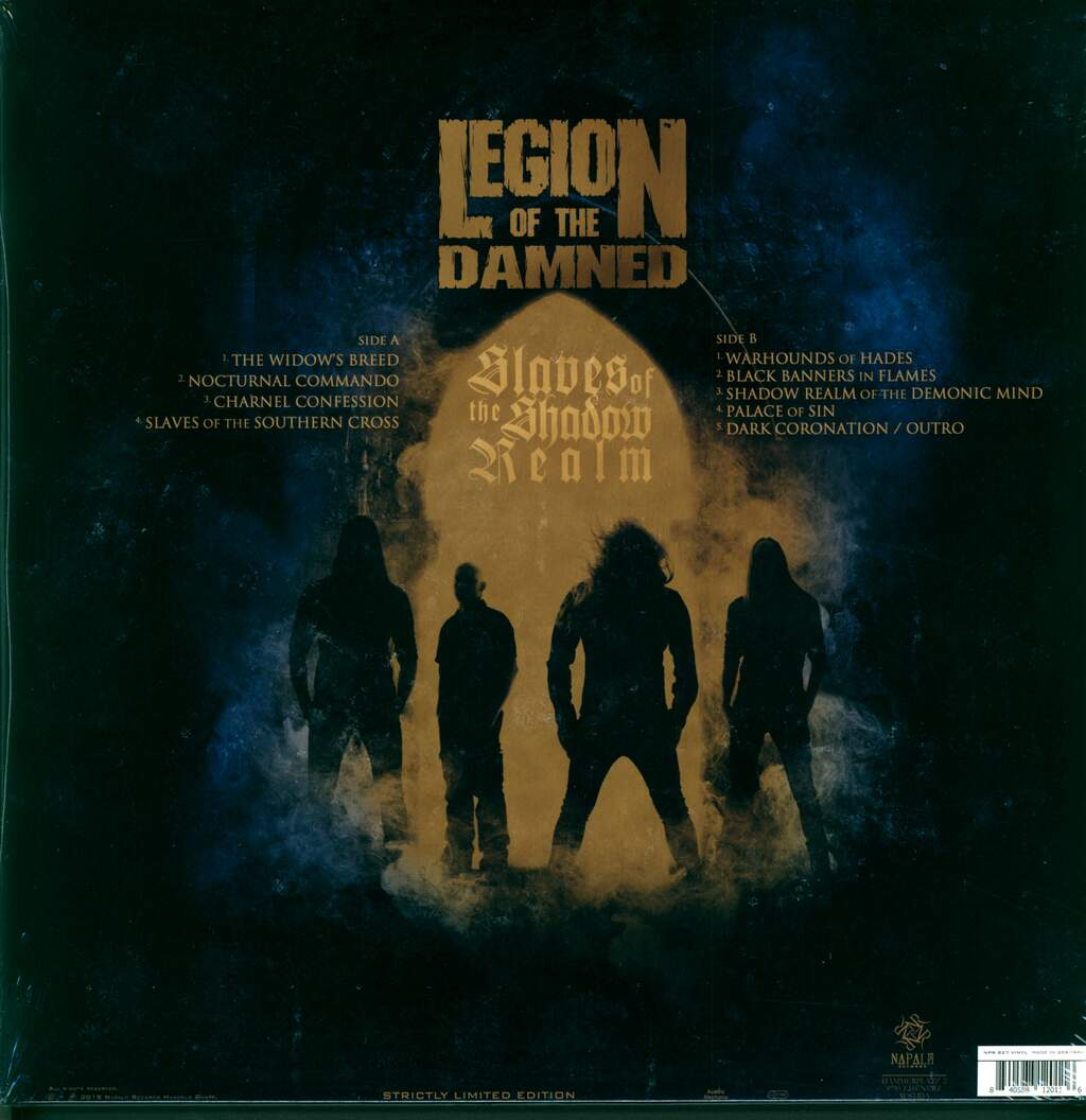 Legion Of The Damned: Slaves Of The Shadow Realm, LP (Vinyl)