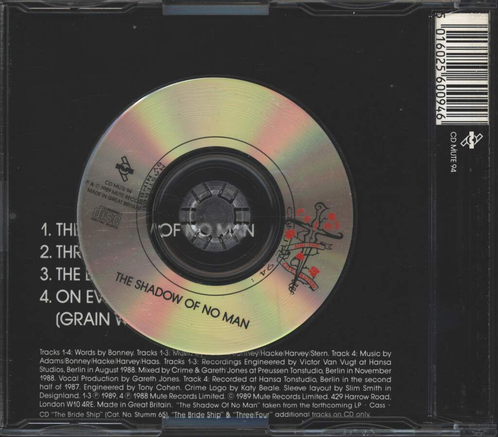 Crime & the City Solution: The Shadow Of No Man, Mini CD