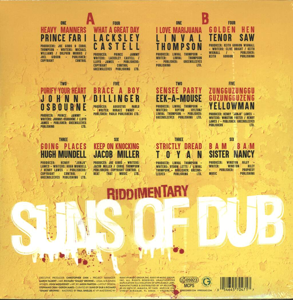 The Suns Of Dub: Suns Of Dub Selects Greensleeves, LP (Vinyl)