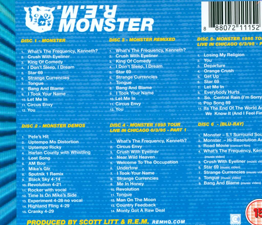 R.E.M.: Monster, 6×CD