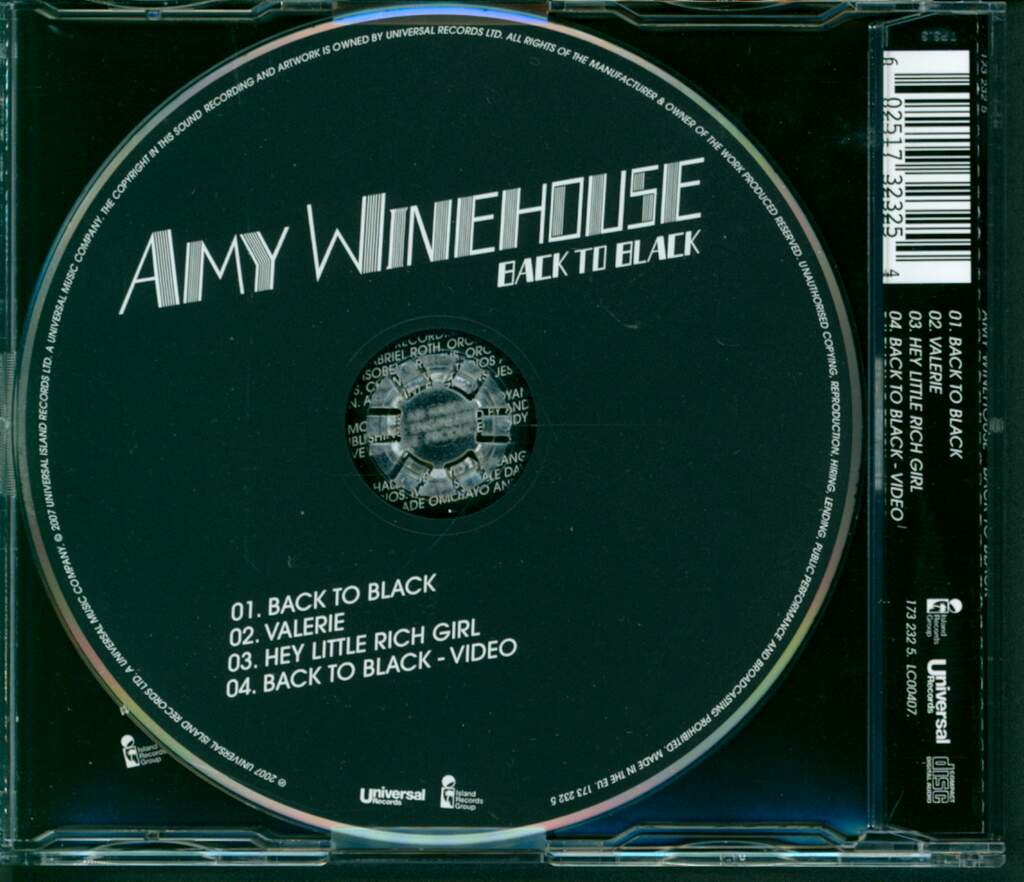 Amy Winehouse: Back To Black, Mini CD