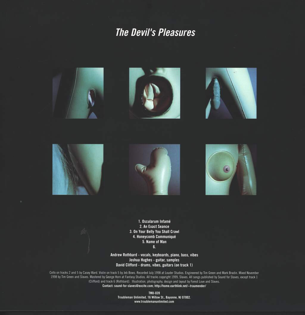 "Slaves: The Devil's Pleasures, 12"" Maxi Single (Vinyl)"