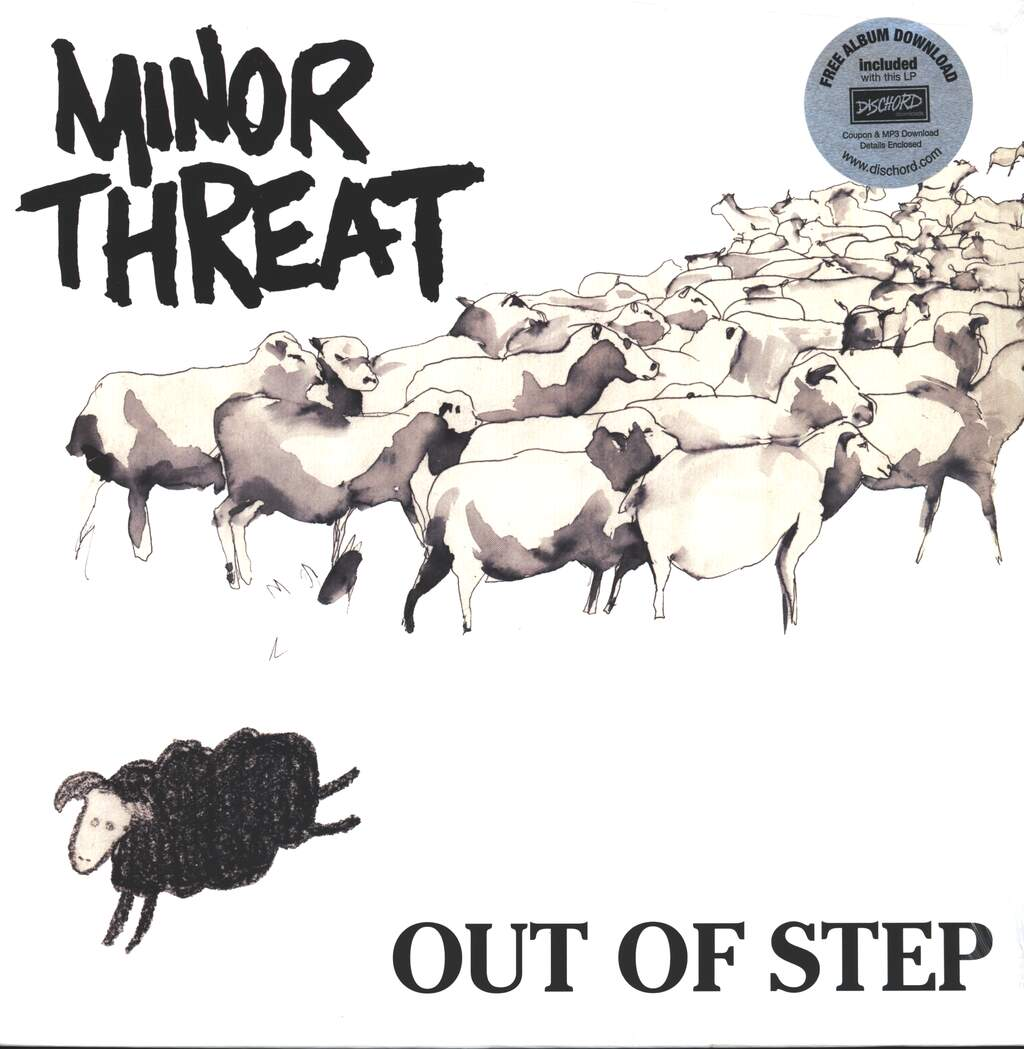"""Minor Threat: Out Of Step, 12"""" Maxi Single (Vinyl)"""