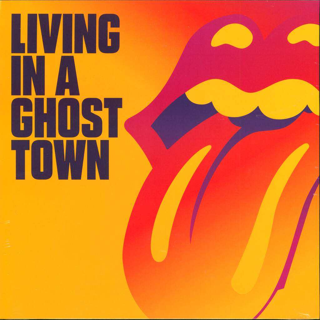 """The Rolling Stones: Living In A Ghost Town, 10"""" Vinyl EP"""