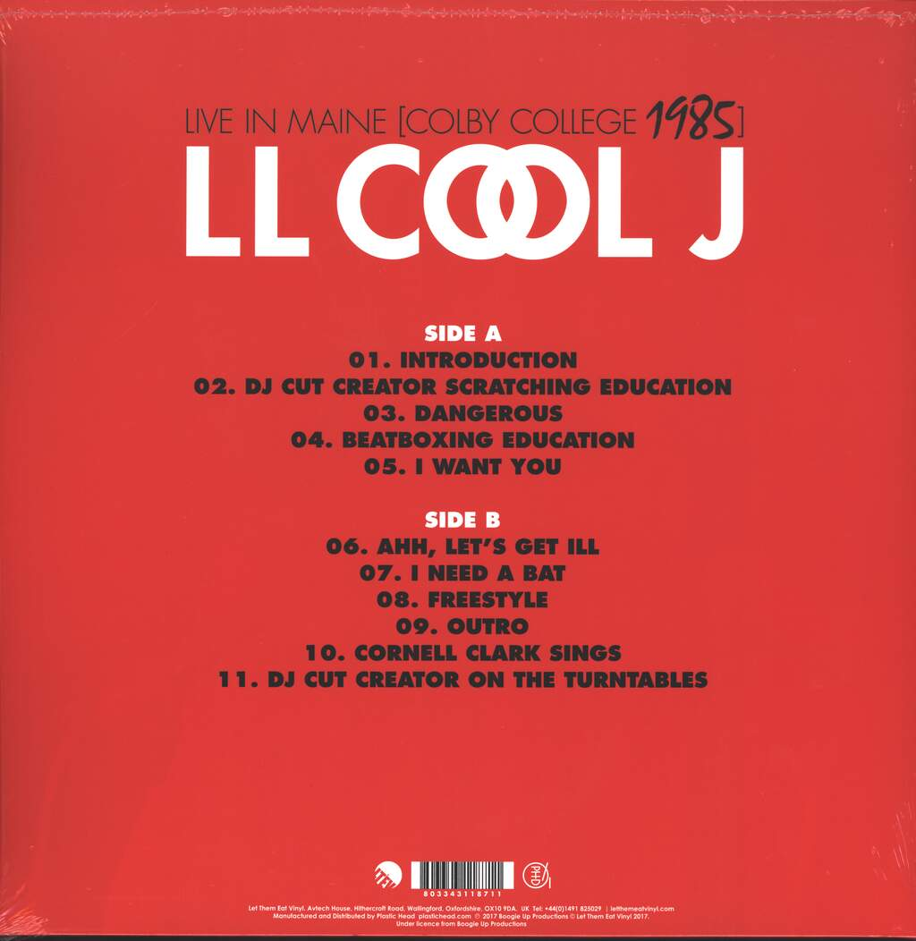 Ll Cool J: Live In Maine (Colby College 1985), LP (Vinyl)