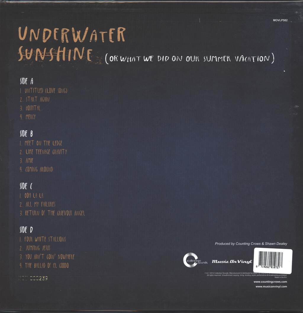Counting Crows: Underwater Sunshine (Or What We Did On Our Summer Vacation), 2×LP (Vinyl)