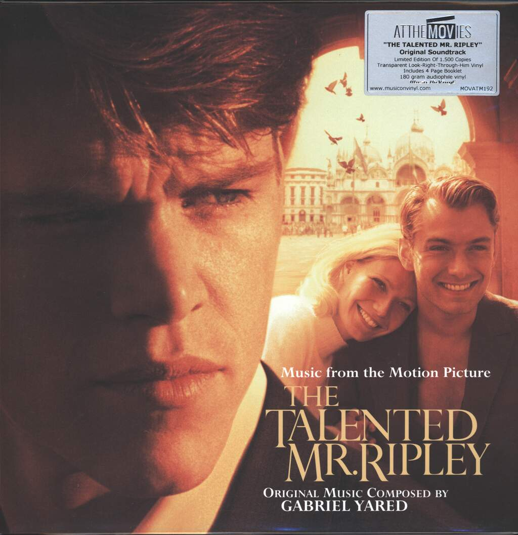 Gabriel Yared: The Talented Mr. Ripley (Music From The Motion Picture), 2×LP (Vinyl)