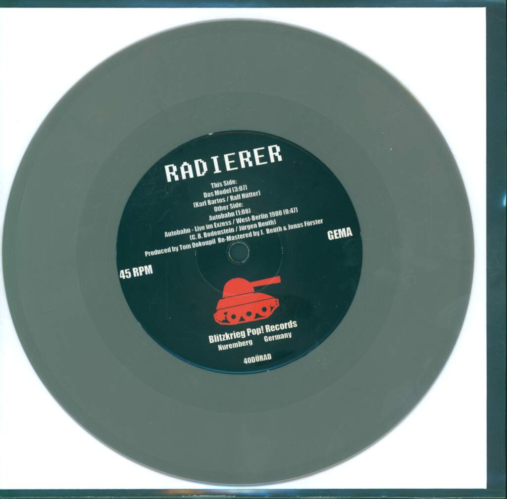 "Die Radierer: Das Model, 7"" Single (Vinyl)"