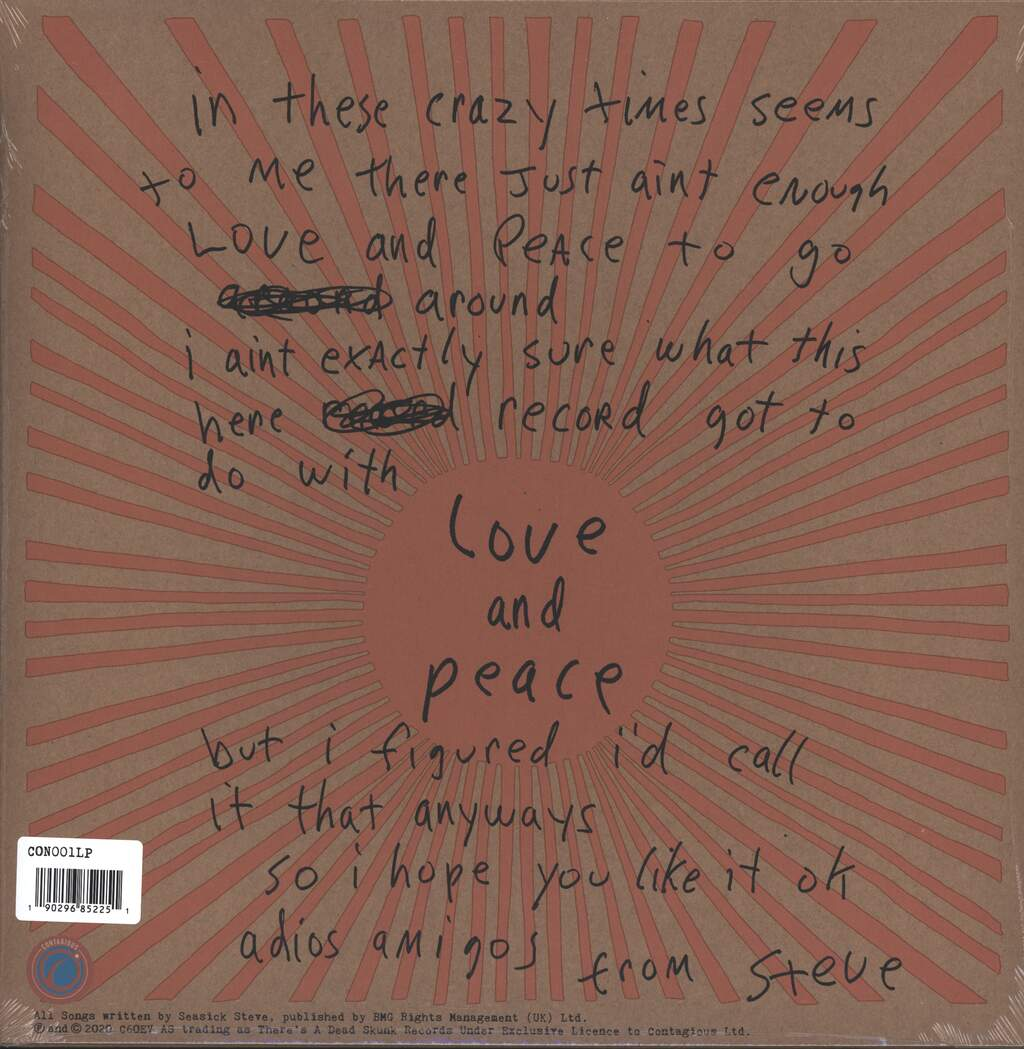 Seasick Steve: Love & Peace, LP (Vinyl)