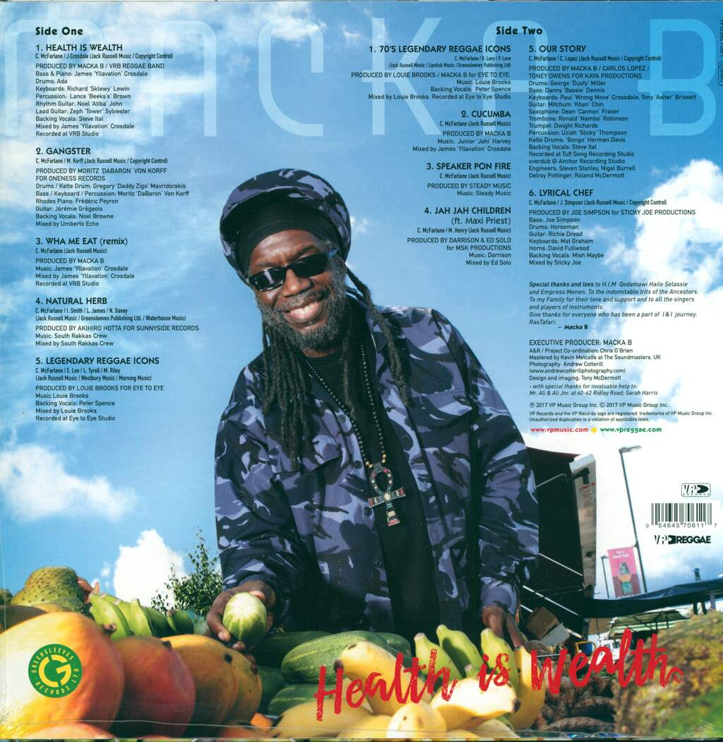 Macka B: Health Is Wealth, LP (Vinyl)