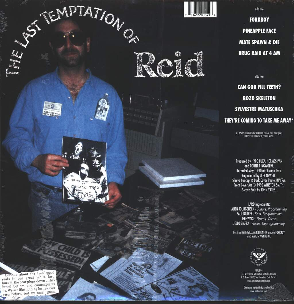 Lard: The Last Temptation Of Reid, LP (Vinyl)